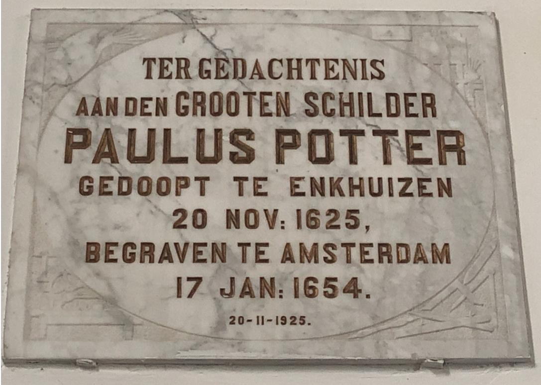 20 november, geboortedag van Paulus Potter