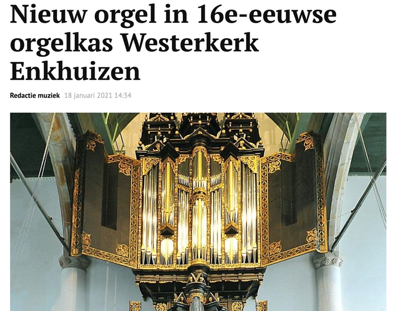 Aandacht voor het orgel in het Reformatorisch Dagblad