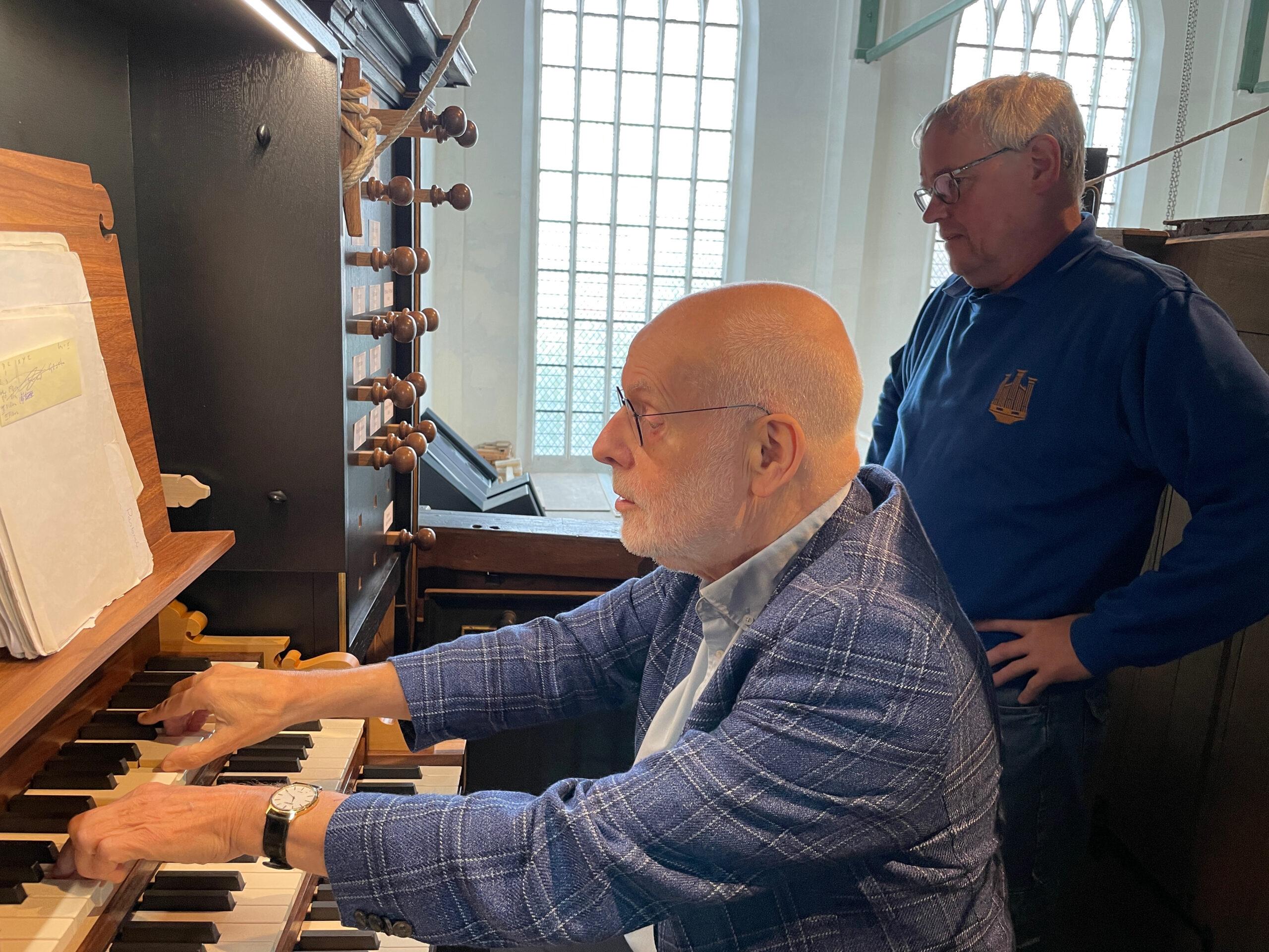 Ton Koopman test het nieuwe orgel